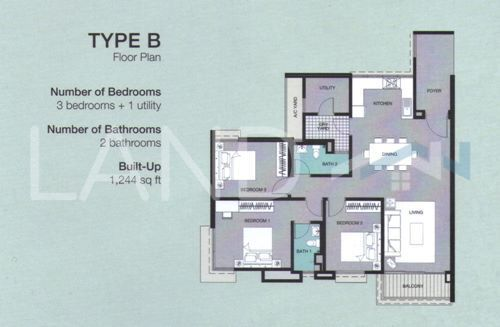 Unfurnished Condominium For Sale Orchard Ville Bayan Lepas Land