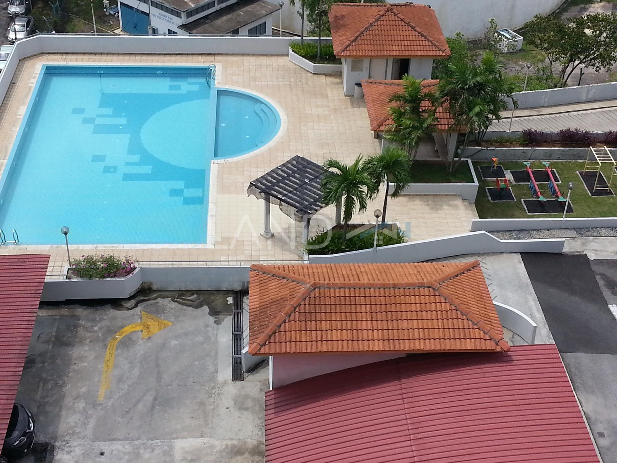 Fully furnished room in apartment for rent at vista for Casa jardin jalan damai