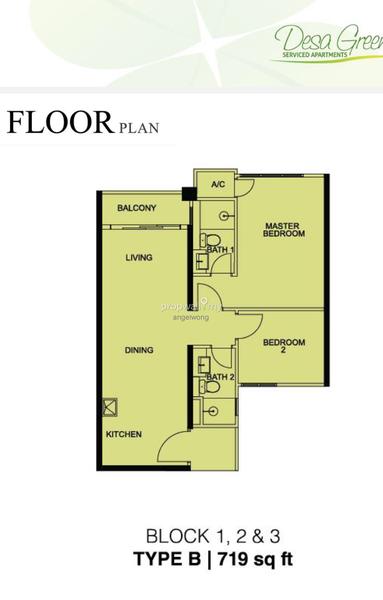 Room In Apartment For Rent At Desa Green Taman Desa Kuala Lumpur Land